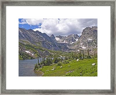 Indian Peaks Wilderness Lake Isabelle Colorado Framed Print