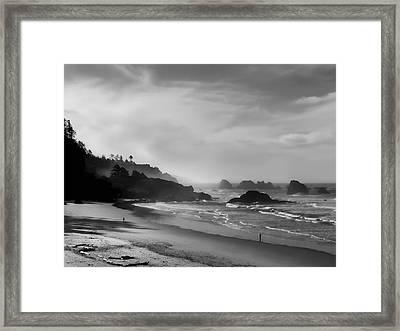 Indian Point Beach - Oregon Coast Framed Print