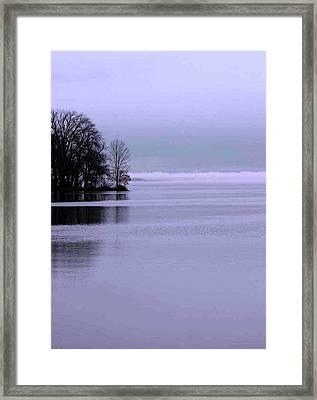 Framed Print featuring the photograph Indian Point Clouds Fall by Jack G  Brauer