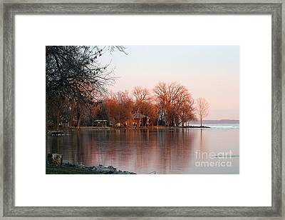 Indian Point First Ice Framed Print by Jack G  Brauer