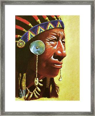 Indian Portrait Framed Print by Martin Howard