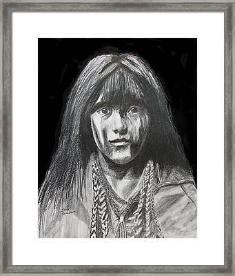Indian Princess Framed Print by Stan Hamilton