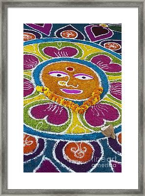 Indian Rangoli Face  Framed Print