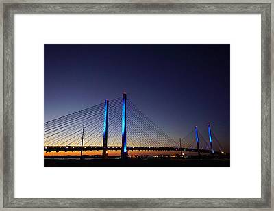 Indian River Inlet Bridge Framed Print by Ed Sweeney