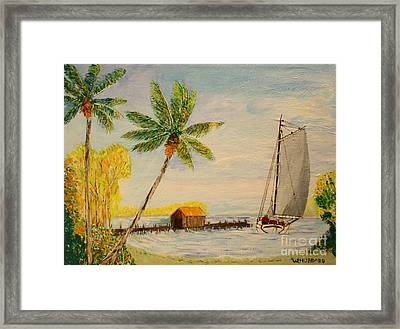 Indian River Mail Sloop 1908 Framed Print by Bill Hubbard