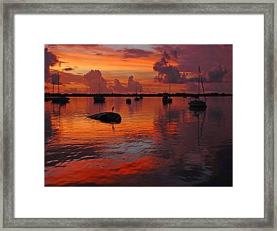 Indian River Sunrise Framed Print