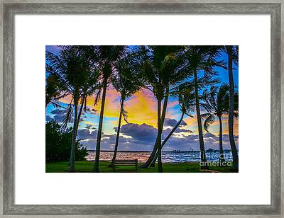 Indian River Sunrise Framed Print