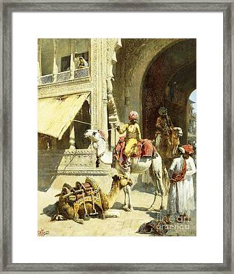 Indian Scene Framed Print by Edwin Lord Weeks