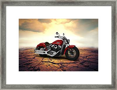 Indian Scout 2015 Desert 02 Framed Print