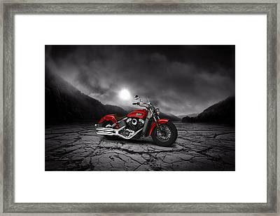 Indian Scout 2015 Mountains 02 Framed Print by Aged Pixel