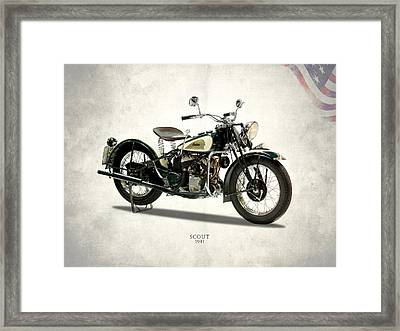 Indian Scout 741 1941 Framed Print