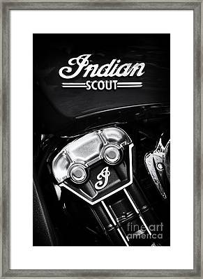Indian Scout Abstract Framed Print