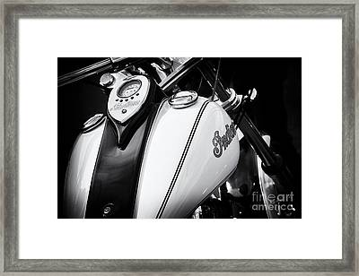 Indian Scout Gas Tank Framed Print by Tim Gainey