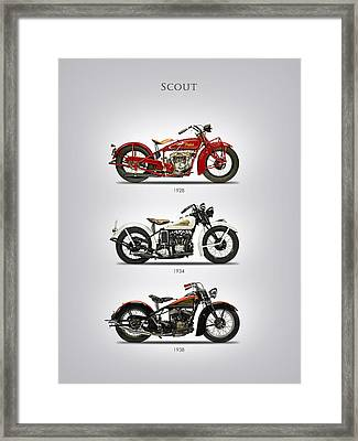 Indian Scout Trio Framed Print by Mark Rogan