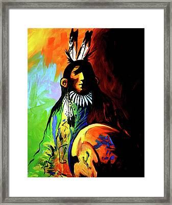 Indian Shadows Framed Print by Lance Headlee