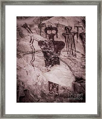 Indian Shaman Rock Art Framed Print by Gary Whitton