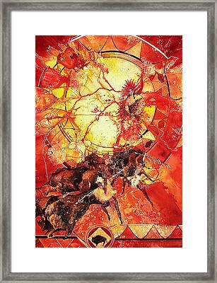 Indian Spiritual Hunt Framed Print