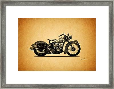 Indian Sport Scout 1939  Framed Print