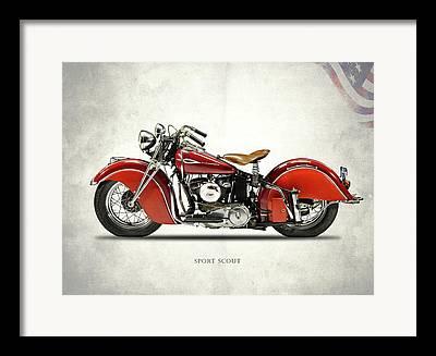 Vintage American Motorcycle Framed Prints