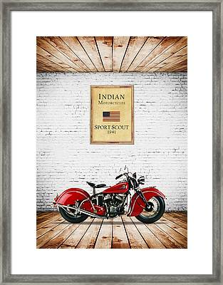 Indian Sport Scout 1941 Framed Print by Mark Rogan