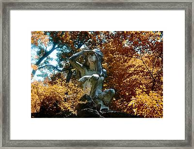 Indian Summer Along The Wissahickon Framed Print by Bill Cannon