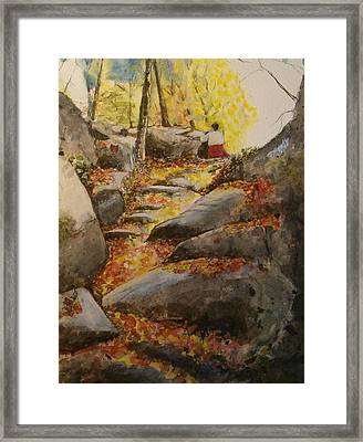 Indian Summer Columbus Day Framed Print