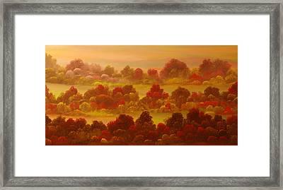 Indian Summer Framed Print by David Snider