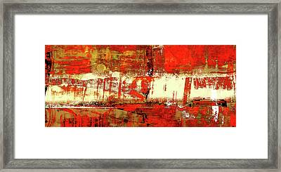 Indian Summer - Red Contemporary Abstract Framed Print