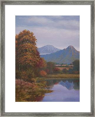 Indian Summer Revisited Framed Print by Sean Conlon