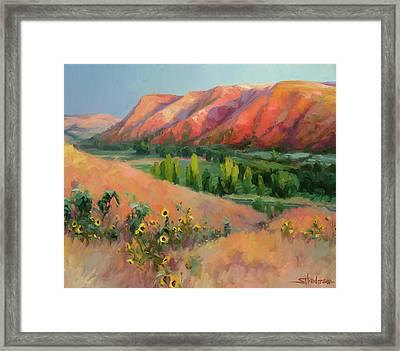 Indian Hill Framed Print