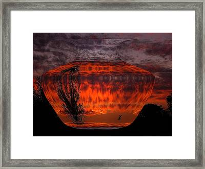 Framed Print featuring the photograph Indian Summer Sunrise by Joyce Dickens