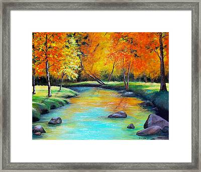 Framed Print featuring the painting Indian Summer by Susan DeLain