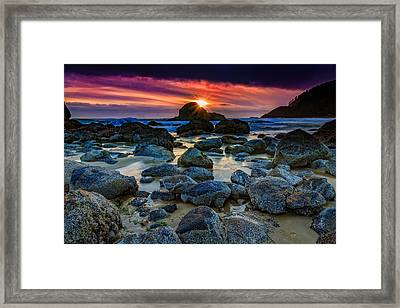 Indian Sunset Framed Print