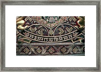 Framed Print featuring the photograph Indian Wall Hanging by Granger