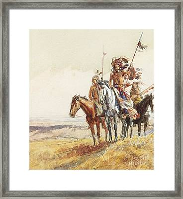 Indian War Party Framed Print by Charles Marion Russell