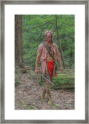 Indian Warrior Bushy Run 1763 Framed Print by Randy Steele