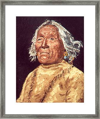 Indian Warrior Framed Print by Stan Hamilton