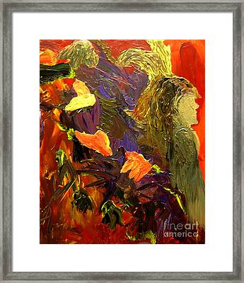 Indian Woman And Her Expelled Haunts Framed Print by Karen L Christophersen