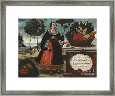 Indian Woman In Special Attire Framed Print by MotionAge Designs
