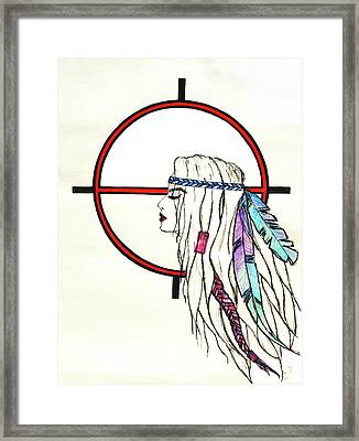 Indian Women Framed Print by Gintare Kunciunaite