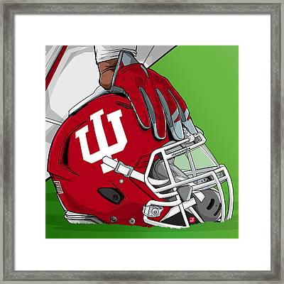 Indiana College Football Framed Print by Akyanyme