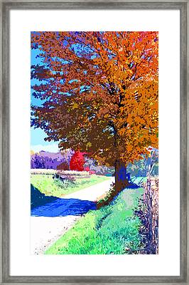 Indiana Country Road Image Framed Print