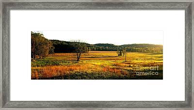 Indiana Farmland  Framed Print