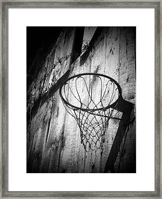 Indiana Hoop Framed Print by Michael L Kimble