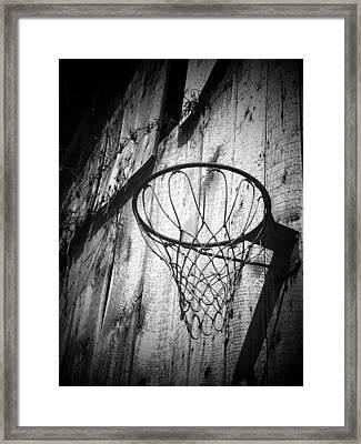 Indiana Hoop Framed Print