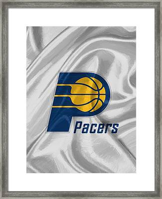 Indiana Pacers Framed Print by Afterdarkness