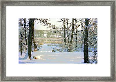 Indiana Snow Image Framed Print by Paul Price