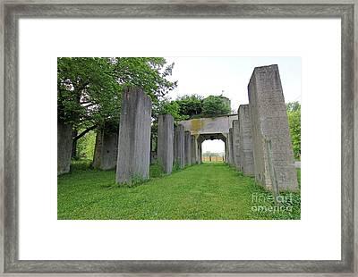 Indiana Stonehenge 2 Framed Print