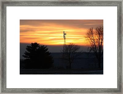Indiana Sunset Framed Print by Bruce McEntyre