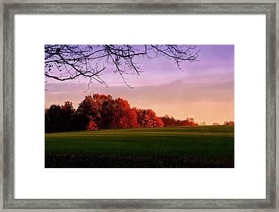 Indiana Sunset Framed Print by Diane Merkle
